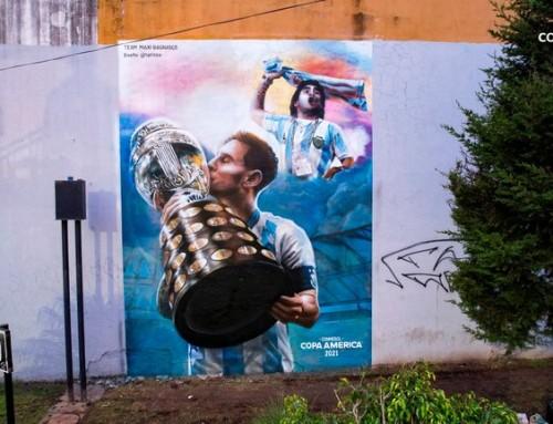 El impresionante mural en honor a Lionel Messi que grafica la obtención de la Copa América